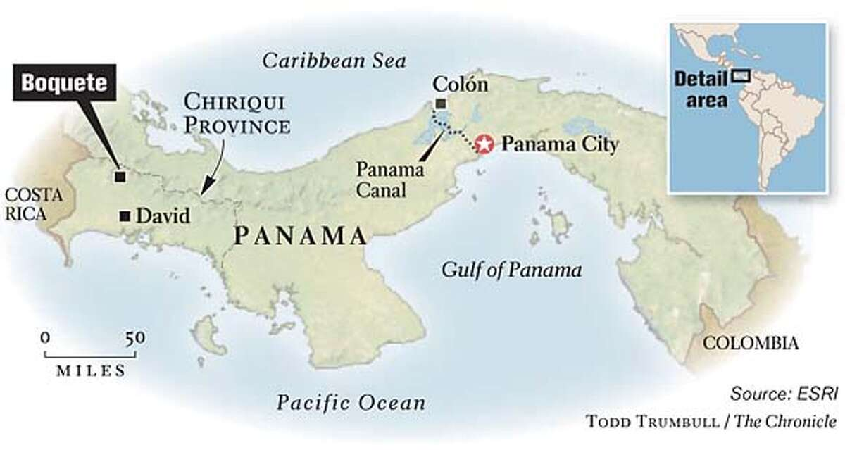 Boquete, Panama. Chronicle graphic by Todd Trumbull