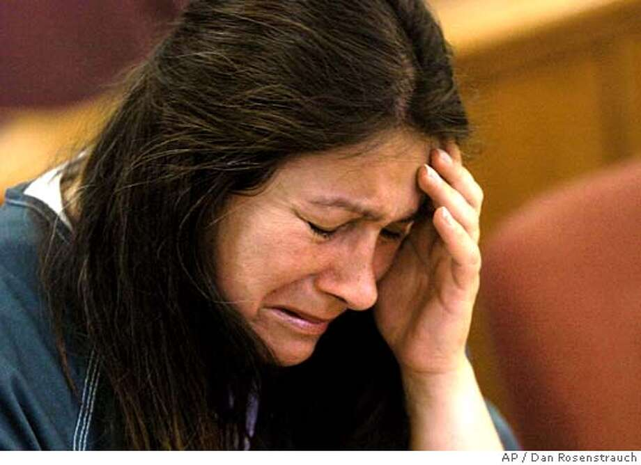Nanny Jimena Barreto reacts in court during her sentencing hearing, in Martinez, Calif., Friday, June 24, 2005. Barreto, a nanny with four previous drunken driving convictions, was sentenced to 30 years to life in prison Friday for the hit-and-run deaths of two children struck on a sidewalk. (AP Photo/Dan Rosenstrauch, Pool) MANDATORY CREDIT CONTRA COSTA TIMES-NO MAGS- -NO ARCHIVE Photo: DAN ROSENSTRAUCH