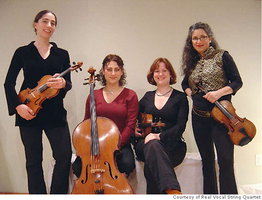 Real Vocal String Quartet featuring Irene Sazer. Photo: Handout