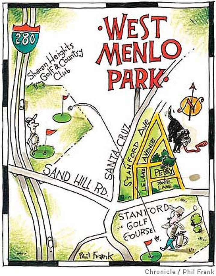 West Menlo Park. Chronicle illustration by Phil Frank