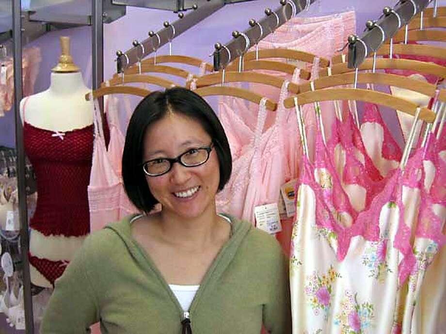 Ellen Shing in her store Lula Lu in San Mateo.  HANDOUT