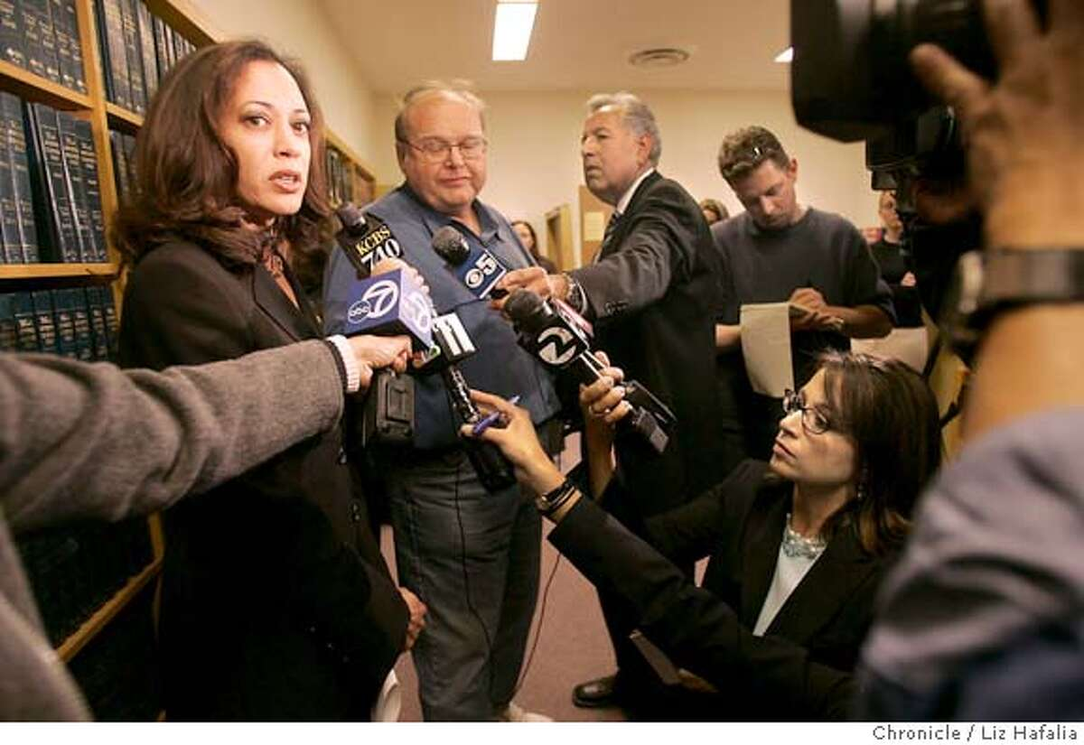 MAULING217_LH.JPG District attorney Kamala D. Harris announced today that Maureen Faibish, the mother of Nicholas Faibish, 12, has been charged with child endangerment. Photographed by Liz Hafalia on 6/23/05 in San Francisco, CA Creditted to the San Francisco Chronicle/Liz Hafalia