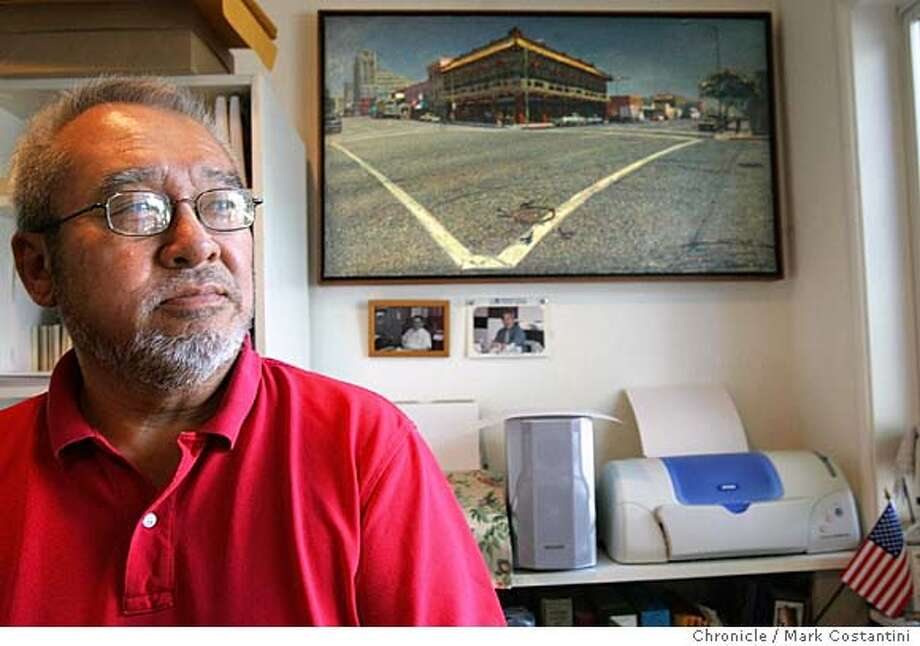 "eblchinatown31_013_mc.jpg  ""Oakland's Chinatown,"" a picture book by William Wong, places the author's old neighborhood firmly outside the shadow of San Francisco's fabled Chinese quarter and underlines its independent role in the development of the Bay Area and the West.  We're writing a story about this ook by former journalist Bill Wong(pictured here at his home). Mark Costantini / The Chronicle MANDATORY CREDIT FOR PHOTOG AND SF CHRONICLE/ -MAGS OUT Photo: Mark Costantini"