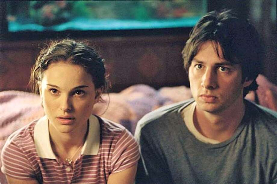 "Natalie Portman as Samantha and Zach Braff as Andrew Largeman become friends and more in ""Garden State."" Credit: K.C. Bailey/Camelot Pictures Photo: K.C. Bailey/Camelot Pictures"