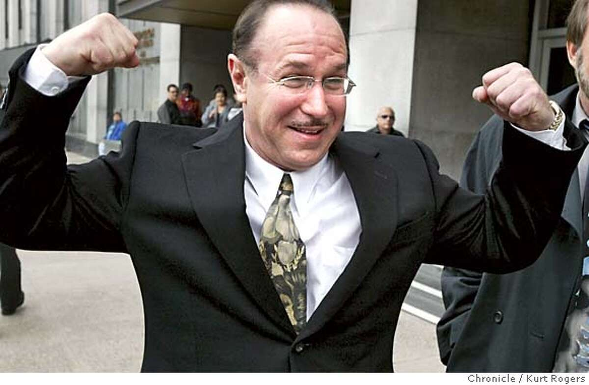 Victor Conte, president of the Burlingame-based Bay Area Laboratory Co-Operative,BALCO as he left the Federal building in San Francisco. The judge ordered the four men to return to her Federal Building courtroom on March 26 for setting of the trial date. The four defendants are Victor Conte, president of the Burlingame-based Bay Area Laboratory Co-Operative, or BALCO; lab vice-president James Valente; personal trainer Greg Anderson, whose clients include San Francisco Giant slugger Barry Bonds; and track coach Remi Korchemny. BALCO-kr124.JPG Kurt Rogers/The Chronicle MANADATORY CREDIT FOR PHOTOG AND SF CHRONICLE/ -MAGS OUT Victor Conte, director of BALCO, who is accused in the steroid case, hams it up as he leaves the S.F. Federal Building. Victor Conte, director of BALCO, who is accused in the steroid case, hams it up as he leaves the S.F. Federal Building. ProductNameChronicle ProductNameChronicle Marion Jones, shown celebrating at the Sydney Olympics in 2000, once strongly endorsed Victor Contes ZMA nutritional supplement. ProductNameArticle_Namebalco01.ART ProductNameArticle_Namebalco01.ART Marion Jones, shown celebrating at the Sydney Olympics in 2000, once strongly endorsed Victor Contes ZMA nutritional supplement. Ran on: 08-26-2004 Kostas Kenteris and Katerina Thanou (with coach Christos Tsekos, left) were pulled off Greeces Olympic team. Ran on: 12-03-2004 BALCOs Victor Conte clowns after a court hearing in March. Metro#Metro#Chronicle#3/27/2004#ALL#5star#B1#0421694590