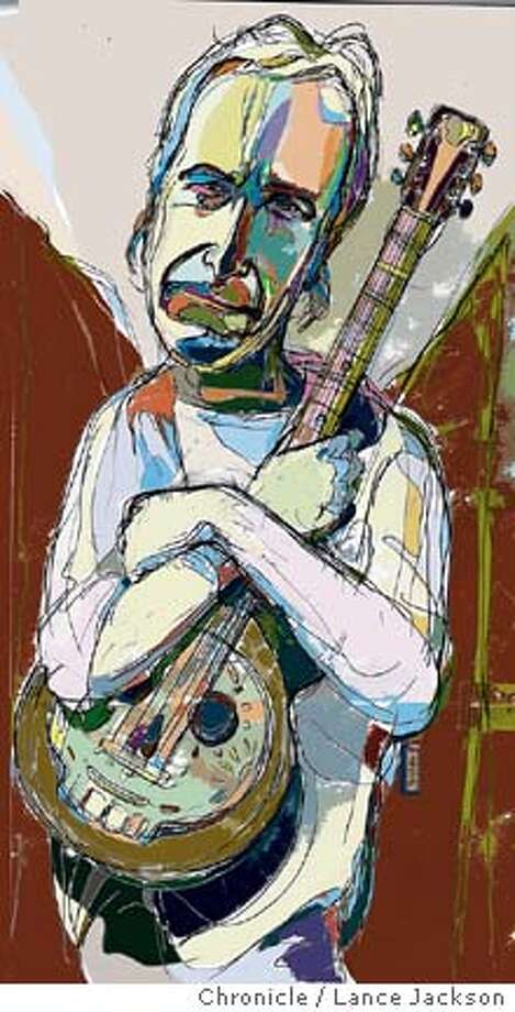 Ry Cooder. Chronicle illustration by Lance Jackson