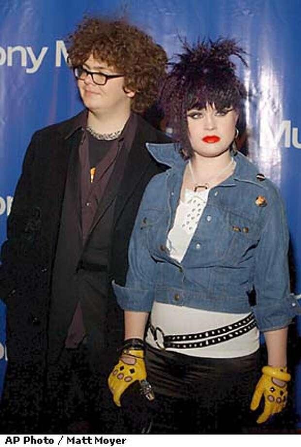 Jack Osbourne, left, and his sister, Kelly arrive at the Sony Music post Grammy party at the Hammerstein Ballroom in New York Sunday, Feb. 23, 2003. (AP Photo / Matt Moyer) Photo: MATT MOYER