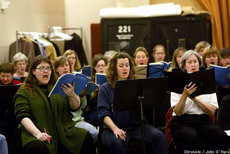 Davis Symphony Hall, san Francisco,CA  SF Symphony Chorus celebrates its 30th Anniversay.  (l to r) Nadja Matisoff, Nette Worthey, Jean Schoch (front row)  photo/john O'hara Photo: John O'hara