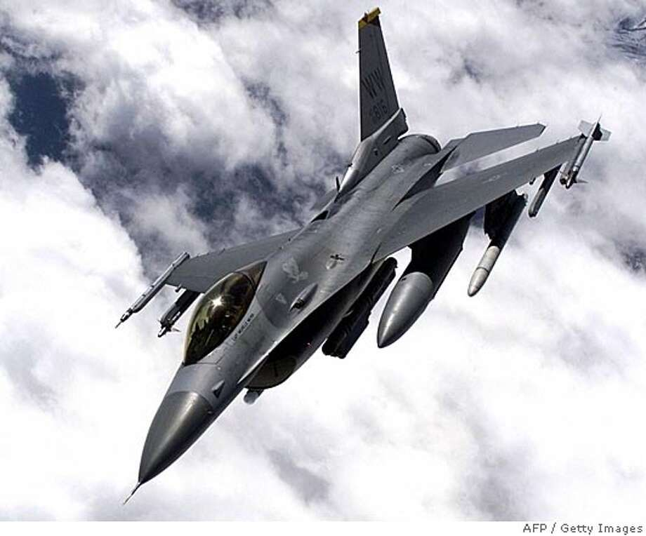 This undated US Air Force file image obtained 10 January, 2002 shows an F-16 in flight during training. Pakistan confirmed 25 March, 2005, that the US had agreed to sell it F-16 fighter jets, and said it welcomed the move. India, which has fought three wars with Pakistan, expressed disappointment at the sale. US President George W. Bush had telephoned Indian Prime Minister Manmohan Singh to inform him of the decision, a government spokesman told the Press Trust of India. AFP PHOTO/US AIR FORCE/GETTY OUT (Photo credit should read -/AFP/Getty Images) Ran on: 03-26-2005  Pakistan initially wants to buy about two dozen F-16s, but there would be no limit on how many it could purchase. GETTY OUT Photo: -