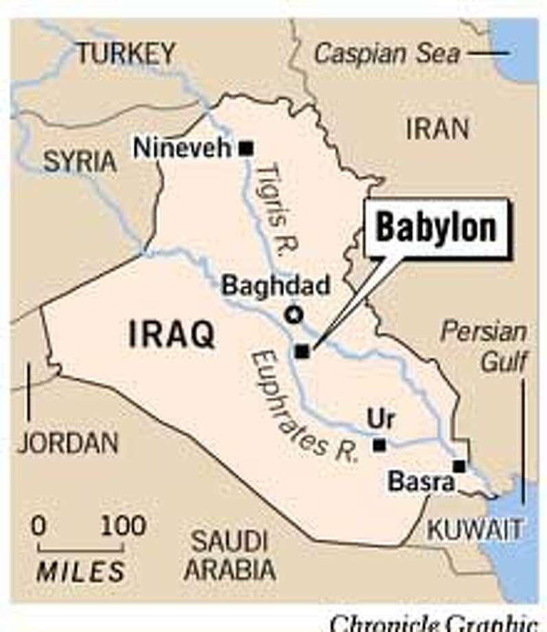 Babylon, Iraq. Chronicle Graphic