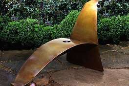OLD LAND PREMONITION CHAISE---images of the works by A New Leaf Gallery artists that will presenting at the SF Flower and Garden Show. We would appreciate that you make clear that these artists works are available through A New Leaf Gallery / Sculpturesite.com, not through the artists personally. Our contact information is below and our Galllery hours are Wed. � Fri. from 11 � 5 and Sat. & Sun. from 10 �5.  (HANDOUT PHOTO)