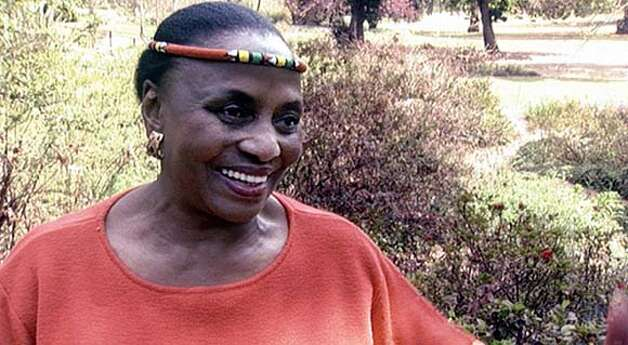 "THIS IS A HANDOUT IMAGE. PLEASE VERIFY RIGHTS. Miriam Makeba in the musical documentary film, ""Amandla! A Revolution In Four-Part Harmony."" Photo: HO"