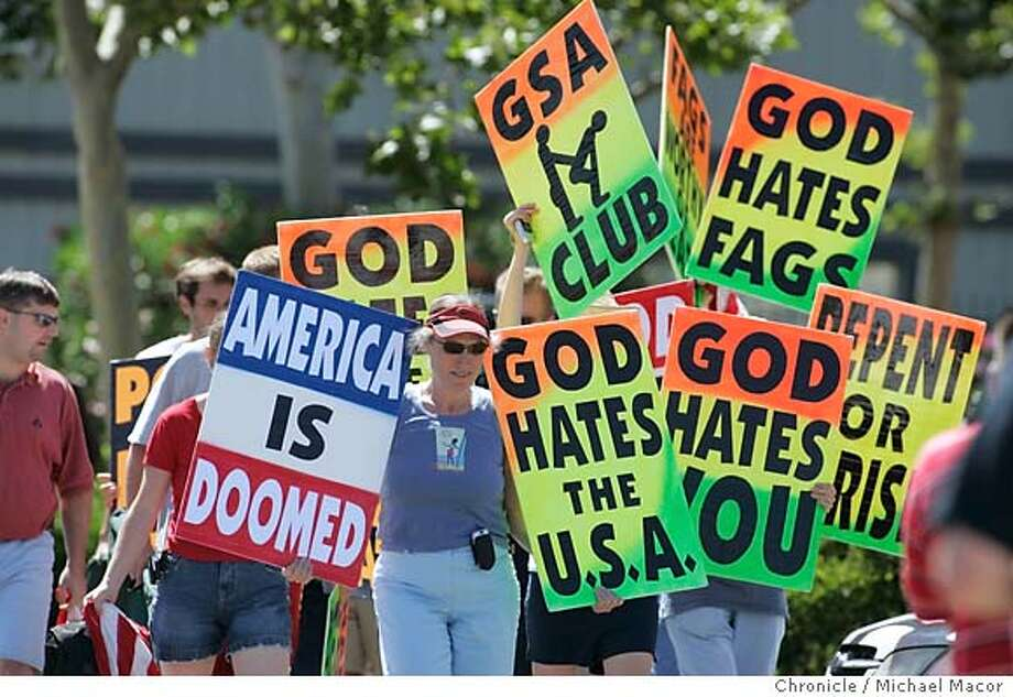 Gay protesters