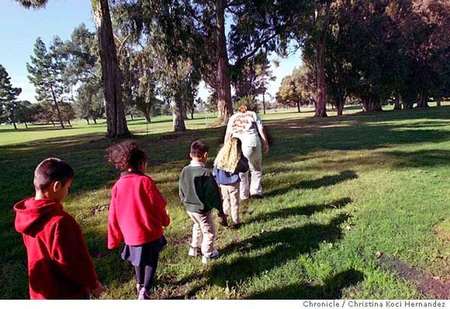 This is for an East Bay Life Outdoors story:  Garfield Elementary from, San Leandro, visits the butterflies.There are several places in the Bay Area that Monarch migrate in the winter. Among them is the San Leandro Golf Course near the Marina, where people can go with tour a guide on weekends. During the week kids take field trips there. .CHRISTINA KOCI HERNANDEZ/CHRONICLE Photo: CHRISTINA KOCI HERNANDEZ