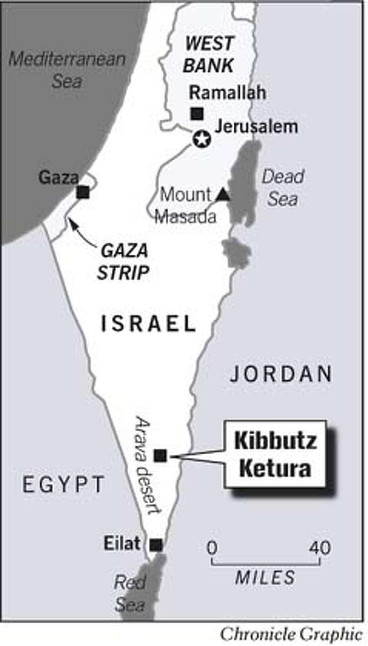 Kibbutz Ketura, Israel. Chronicle Graphic