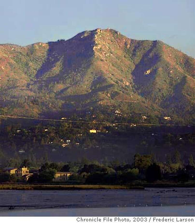 : Mount Tamalpais looking towards Mill Valley. Chronicle photo by Frederic Larson Photo: FREDERIC LARSON