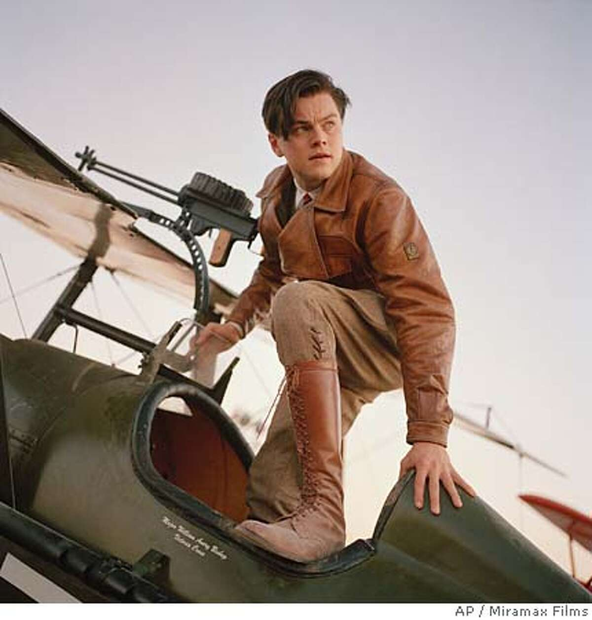 In this undated promotional photo provided by Miramax, actor Leonardo DiCaprio portrays Howard Hughes in a scene from Martin Scorsese's
