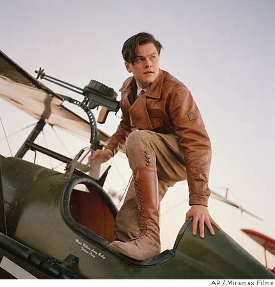 "In this undated promotional photo provided by Miramax, actor Leonardo DiCaprio portrays Howard Hughes in a scene from Martin Scorsese's ""The Aviator."" (AP Photo/Miramax Films)"