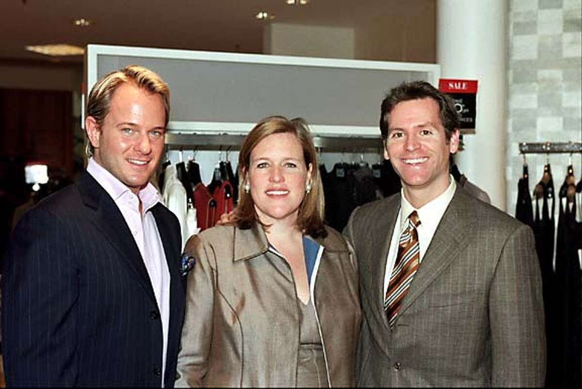 (L-R): daniel Benedict, Marjorie Gubelmann and Trevor Traina at Saks for the launch of Vie Luxe