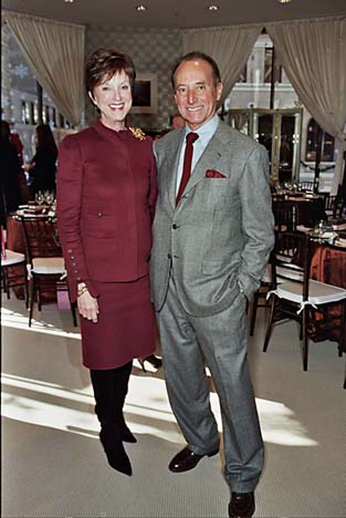 Saks' Therese Post and John Traina at the Vie Luxe launch.