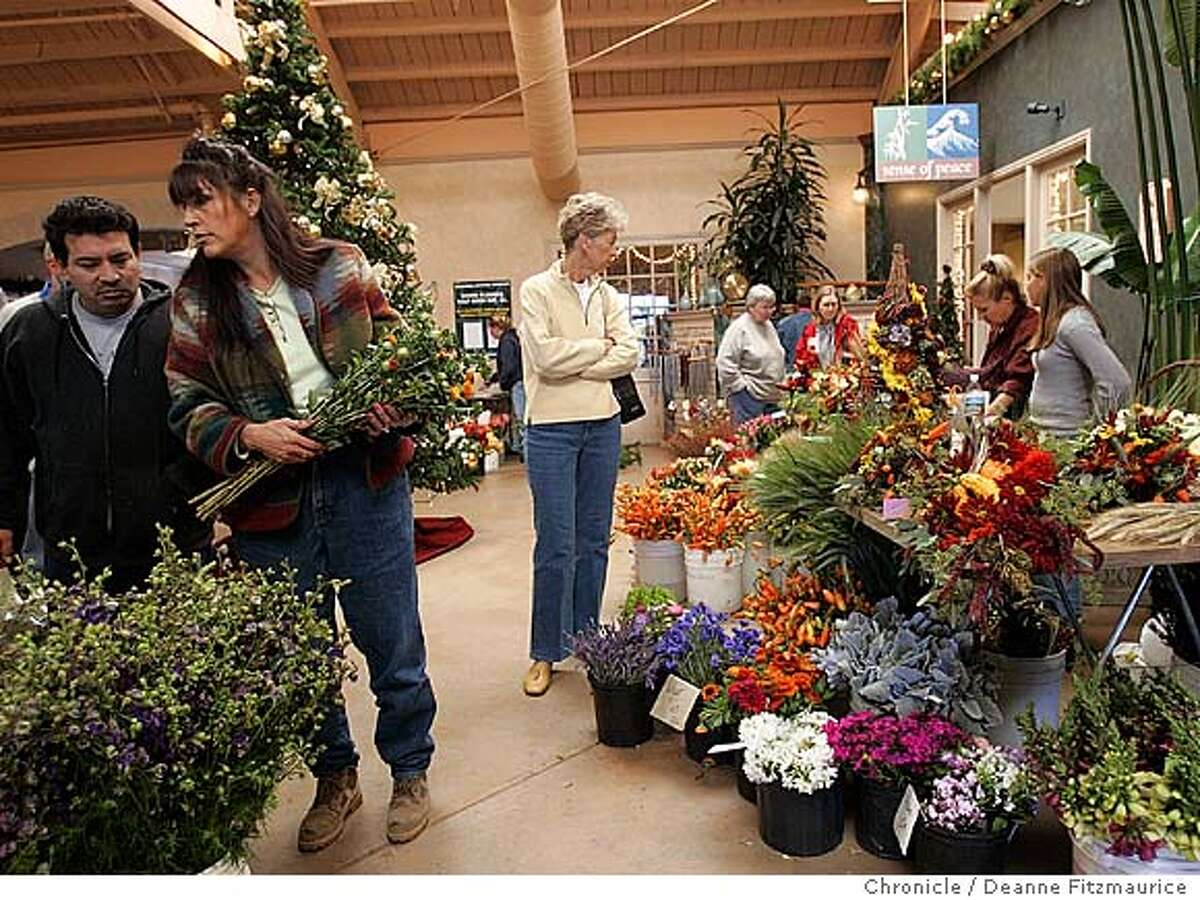 The Half Moon Bay Coastal Flower Market is on the third Saturday of every month. Deanne Fitzmaurice / The Chronicle