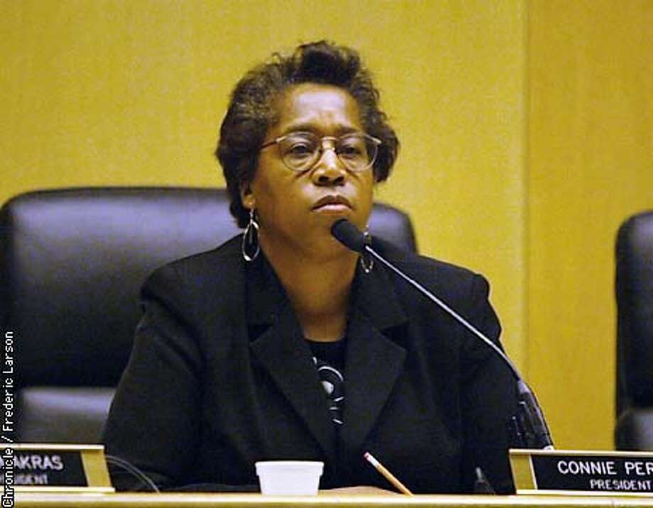 SFCOPS3-C-05MAR03-MT-FRL: Connie Perry, President of the Commissioner. CHRONICLE PHOTO BY FREDERIC LARSON Photo: FREDERIC LARSON