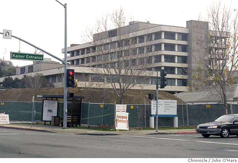 Kaiser Hospital,975 Serrano Dr.Vallejo, CA. 94589  A small mountain of dirt in foreground. Old hospital in rear will be demolished  New Hospital construction. Early construction for new Hospitalof 460,000 sq. ft. Views of begginings of underground construction, parking area to be made into the new hospital, and older hospital to be demolished Photo: John O'Hara