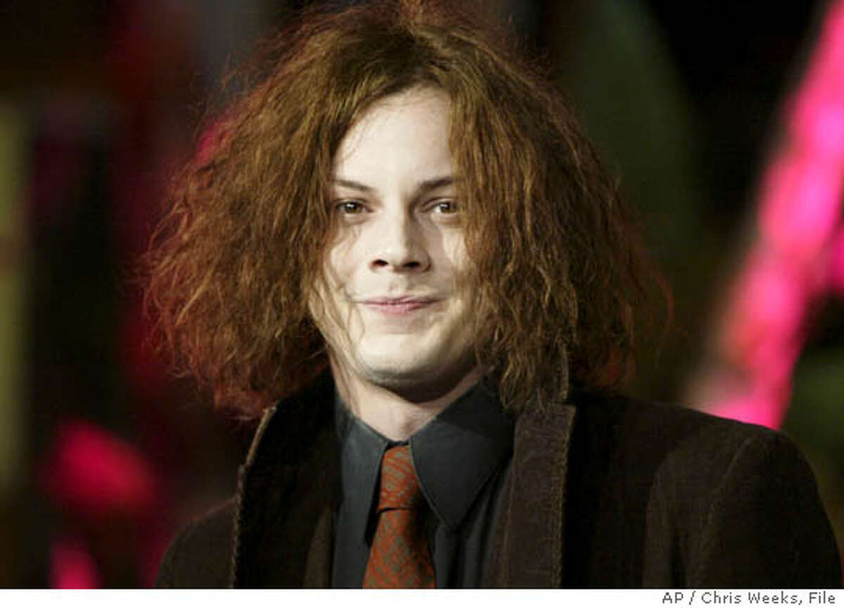 ** FILE ** Jack White of the rock group The White Stripes arrives at the Vanity Fair post-Oscar party, Feb. 29, 2004, in the West Hollywood section of Los Angeles. The singer wed model Karen Elson on WednesdayJune 1, 2005 in a canoe in the Amazon River in Brazil. (AP Photo/Chris Weeks)