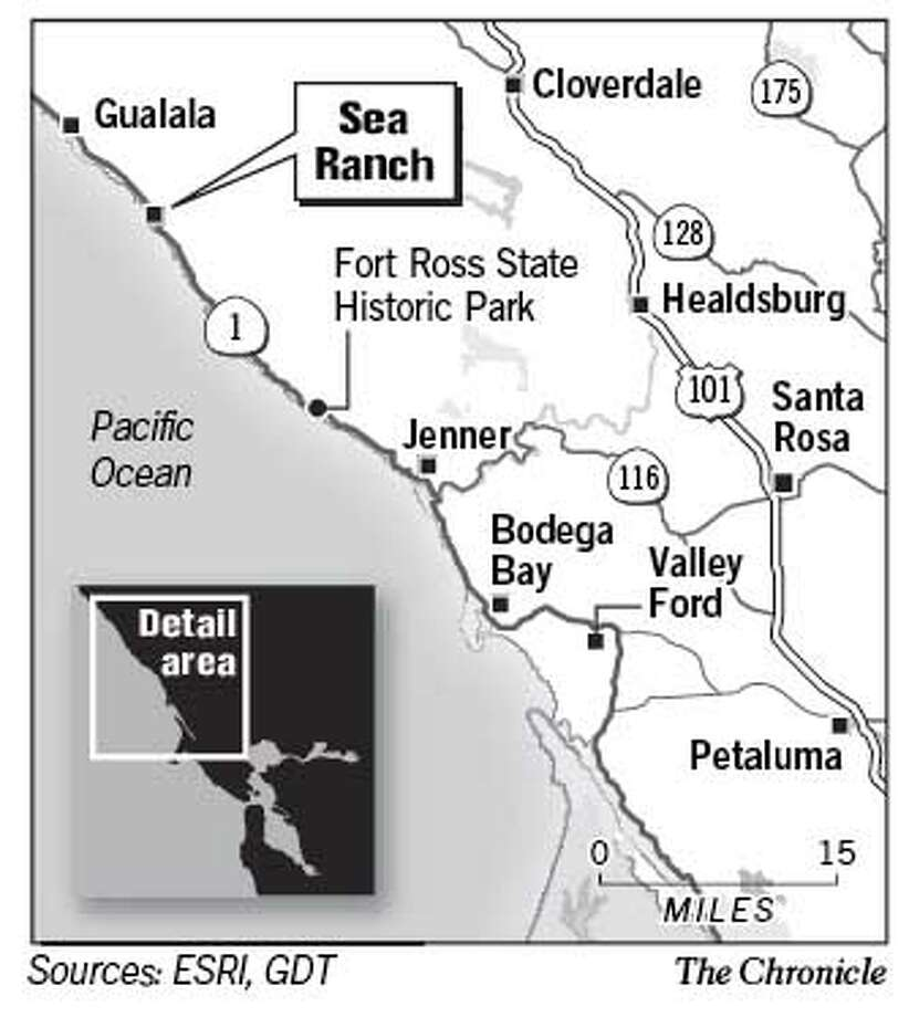 Sea Ranch. Chronicle Graphic