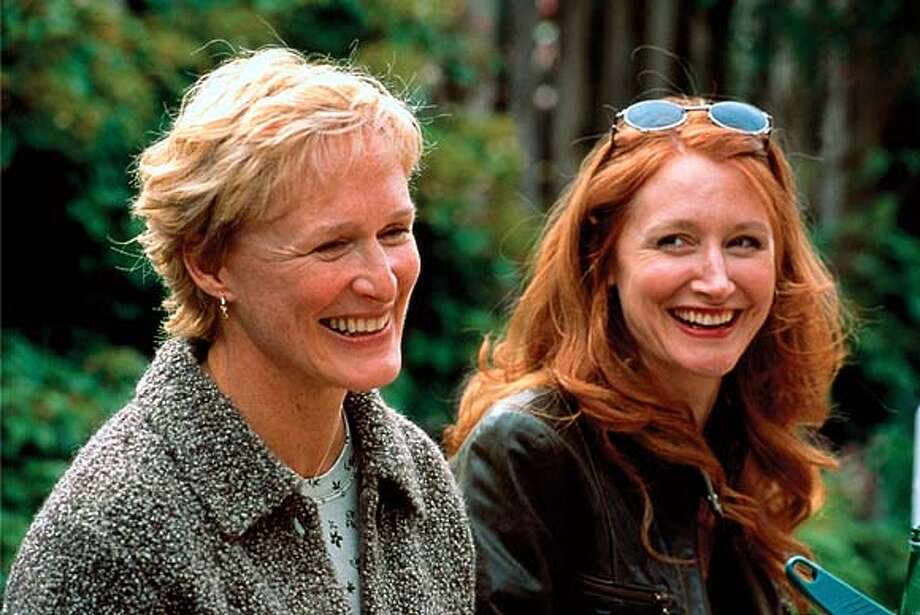"THIS IS A HANDOUT IMAGE. PLEASE VERIFY RIGHTS. (l-R) Esther Gold (Glenn Close) with Annette Jennings (Patricia Clarkson) in a scene from IFC film ""The Safety of Objects."" Photo: HO"