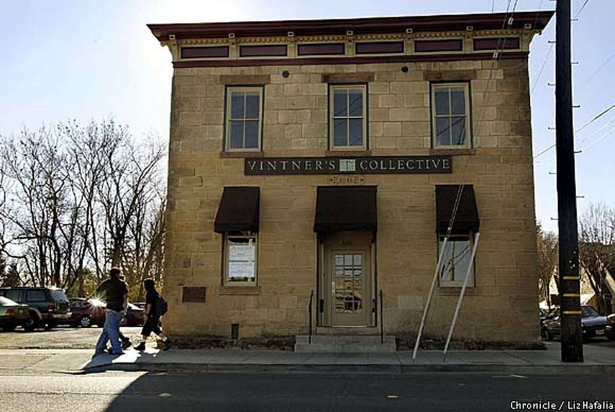 Vintner's Collective--1245 Main St--is the first stone and oldest survivng comercial building in Napa. Built by Philip Pfeiffer as a brewery in 1875, it also became Sam Kee Laundry in the 1920's-1970's. (PHOTOGRAPHED BY LIZ HAFALIA/THE SAN FRANCISCO CHRONICLE)