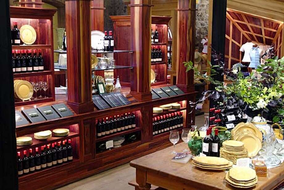 Wine-tasting and shopping go hand in hand at Niebaum-Coppola in Rutherford. Shown is the Rubicon Room retail area. Photo: Courtesy Coppola Companies