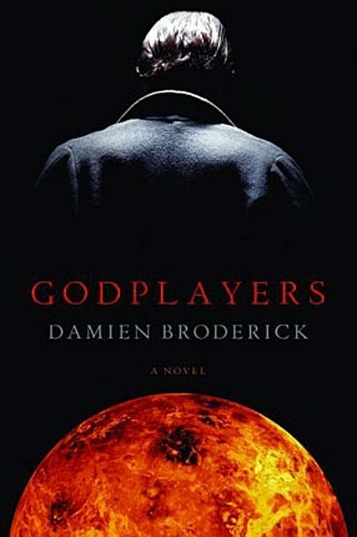 """Book cover art for, """"Godplayers: by Damien Broderick."""" BookReview#BookReview#Chronicle#06-05-2005#ALL#2star#e6#0422975903"""