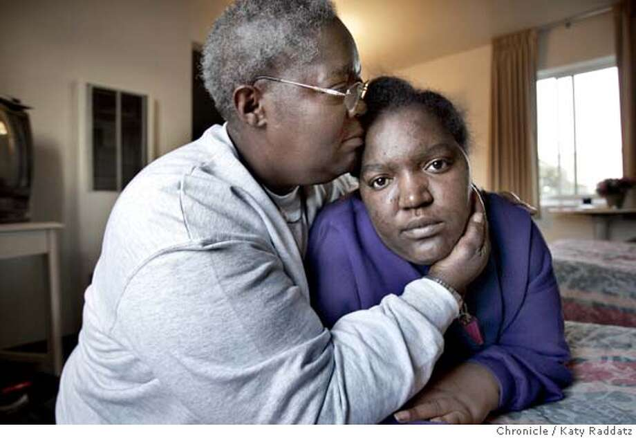 SOS_FIELDS_rad.jpg Nykia Fields needs a hip replacement and a deposit for a rental unit in Rancho Cordova for herself and her children. Recently their rental in San Francisco burned down; her mother who lived upstairs, was burned out too. SHOWN: L to R: Renee Fields (Nykia's mother) comforts her daughterff Nykia Fields. They're staying at a hotel, thanks to the Red Cross. Katy Raddatz / The Chronicle MANDATORY CREDIT FOR PHOTOG AND SF CHRONICLE/ -MAGS OUT Photo: Katy Raddatz
