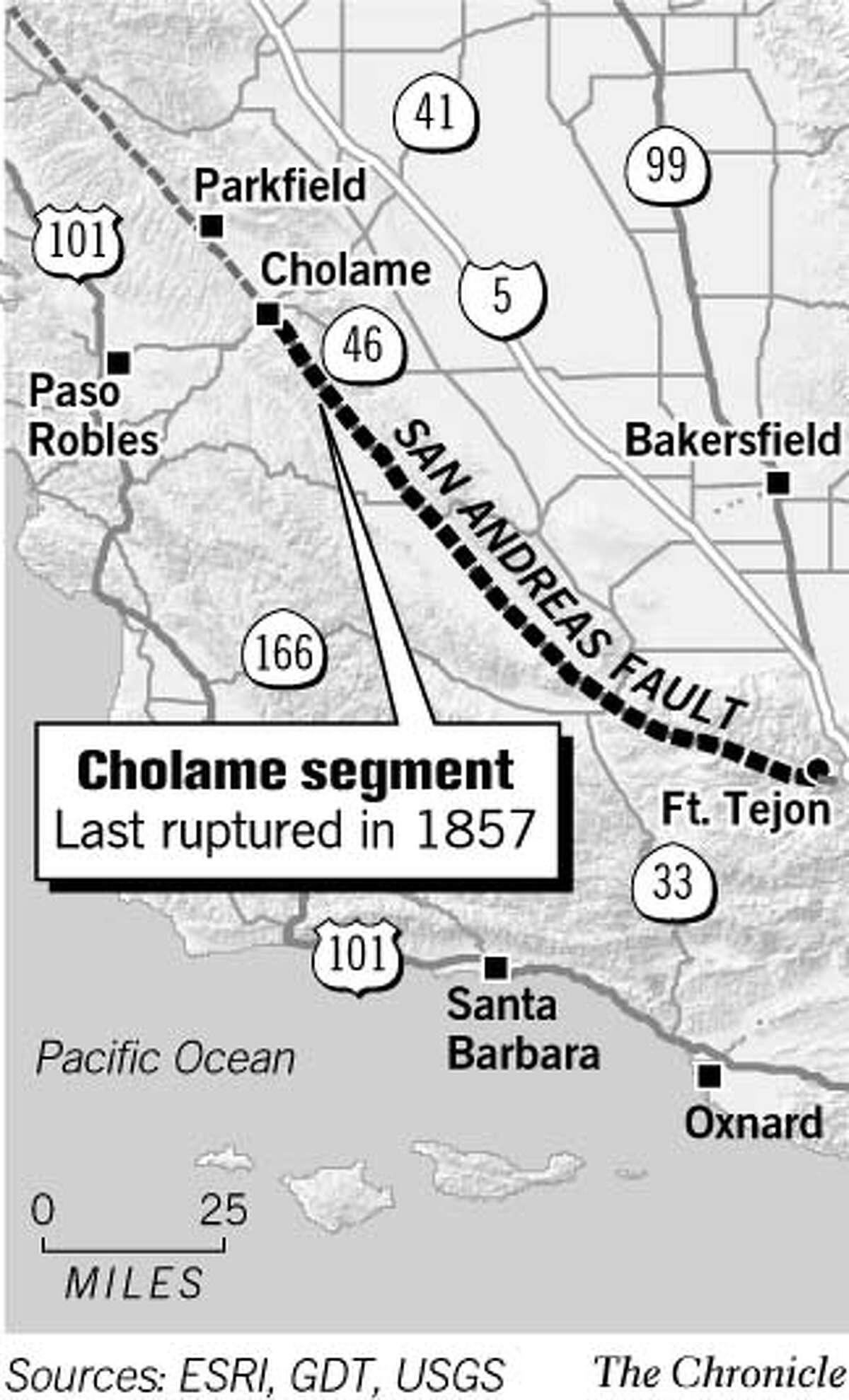 Cholame Segment. Chronicle Graphic