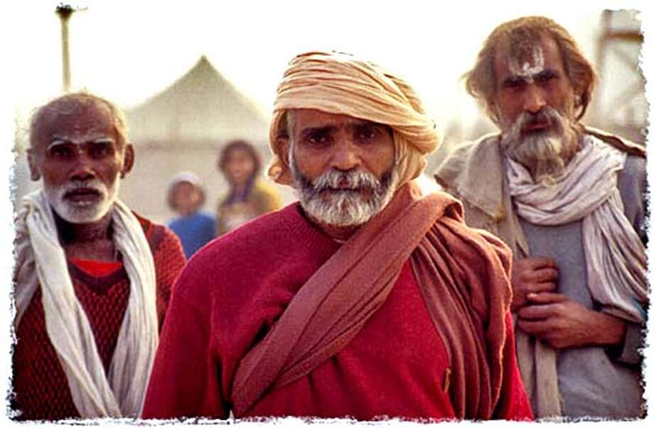 KUMBH10 Three pilgrims from the documentary Kumbh Mela: Short Cut ot Nirvana. Larsen Associates