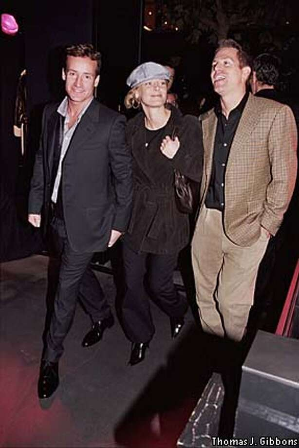 THIS IS A HANDOUT IMAGE. PLEASE VERIFY RIGHTS. Todd Traina, Katie Orr and Trevor Traina at the Yves Saint Laurent party in San Francisco Oct 2002.  Photo by Thomas J. Gibbons  HANDOUT PHOTO/VERIFY RIGHTS AND USEAGE Photo: HANDOUT