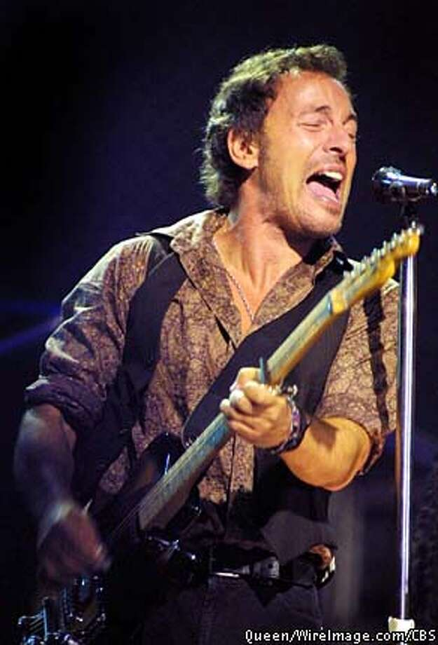 THIS IS A HANDOUT IMAGE. PLEASE VERIFY RIGHTS. caption: Bruce Springsteen (pictured) and the E Street Band headline their first broadcast network television special, BRUCE SPRINGSTEEN AND THE E STREET BAND, scheduled to air on the CBS Television Network.  Barcelona, Spain October 16, 2002 Note to editors: Authorization for use of these images is strictly limited to CBS's Bruce Springsteen and E Street band special, to be broadcast on Friday, Feb. 28. All other usage is expressly prohibited.  copyright: Photo: Queen/WireImage.com/CBS HANDOUT PHOTO/VERIFY RIGHTS AND USEAGE Photo: HANDOUT