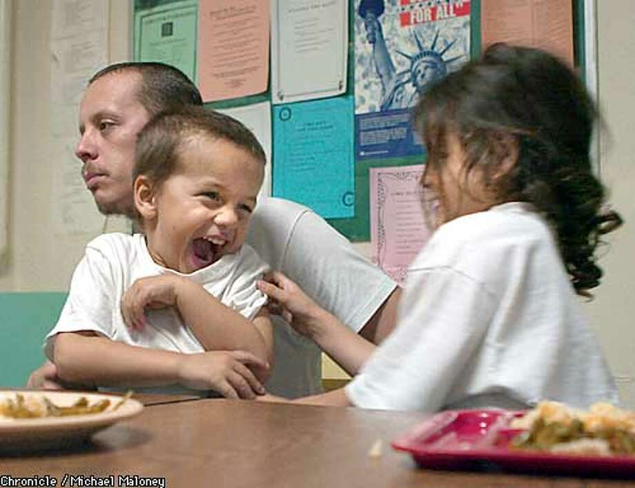 Robert Barbosa has been living at a Hayward family emergency center for nearly two months with his son Robert Jr (3) and daughter Marcella (5). Without the shelter, he would be living on the streets with his kids.  For the first time, Alameda County officials are counting the homeless and trying to get a better handle on who they are and what they need. Unlike San Francisco's street count, Alameda County's is a series of interviews and statistical analysis at service providers from shelters to drop-in centers.  CHRONICLE PHOTO BY MICHAEL MALONEY Photo: MICHAEL MALONEY