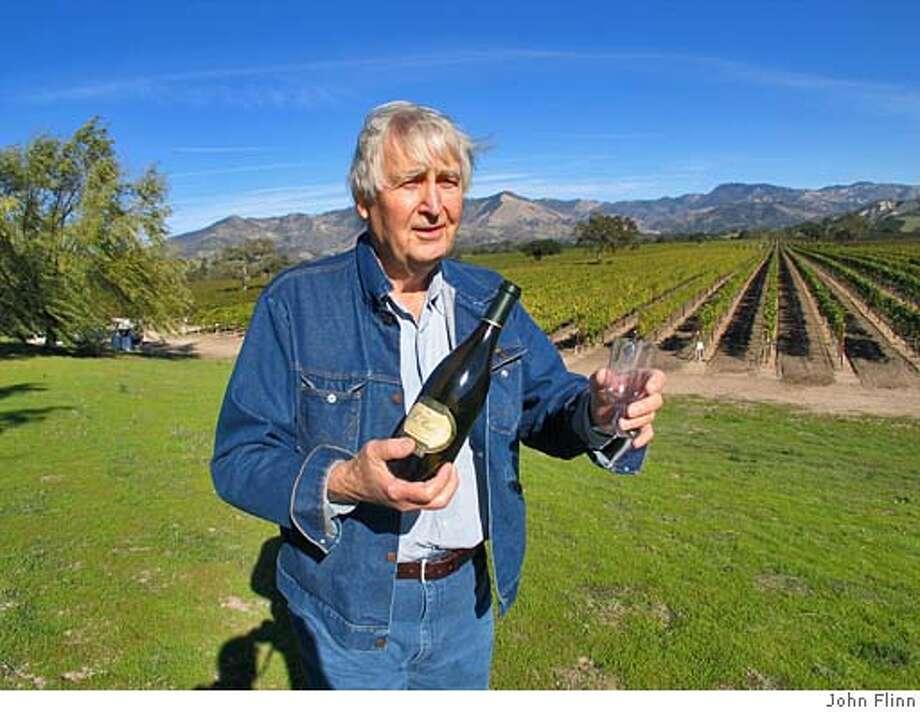 TRAVEL SANTA YNEZ -- King of the wine frontier: Fess Parker at one of his vineyards near Los Olivos. CREDIT: JOHN FLINN Travel#Travel#Chronicle#12/5/2004#ALL#Advance##0422482031 Photo: John Flinn