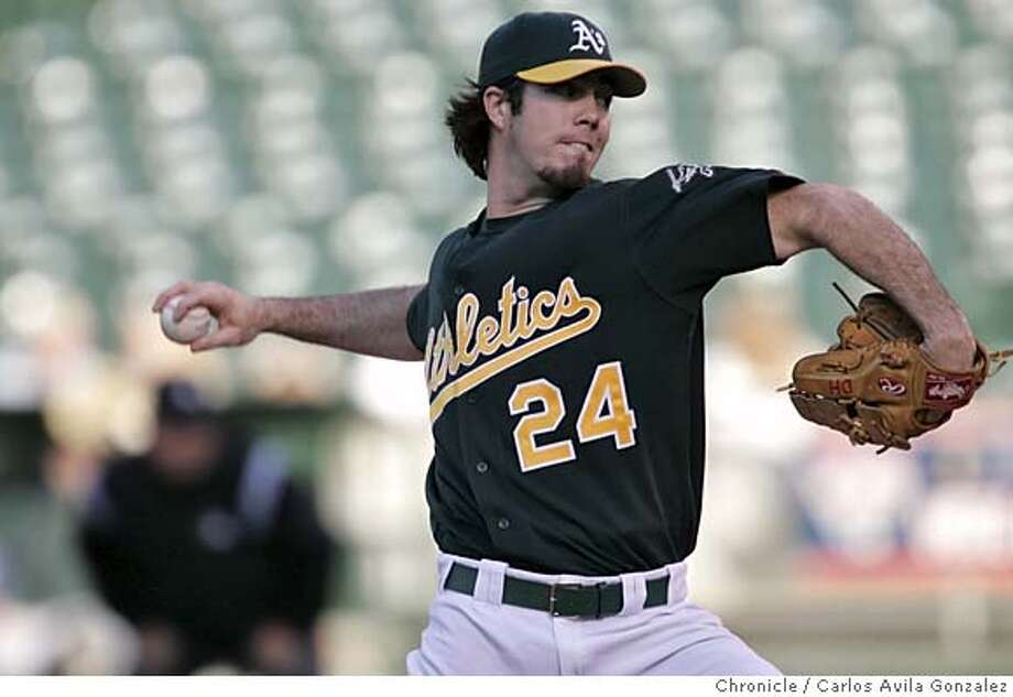 Athletics starting pitcher, Dan Haren. The Oakland Athletics played the Tampa Bay Devil Rays at McAfee Coliseum in Oakland, Ca., on Tuesday, May 31, 2005. Photo by Carlos Avila Gonzalez / The San Francisco Chronicle  Photo taken on 5/31/05, in Oakland,CA. Photo: Carlos Avila Gonzalez