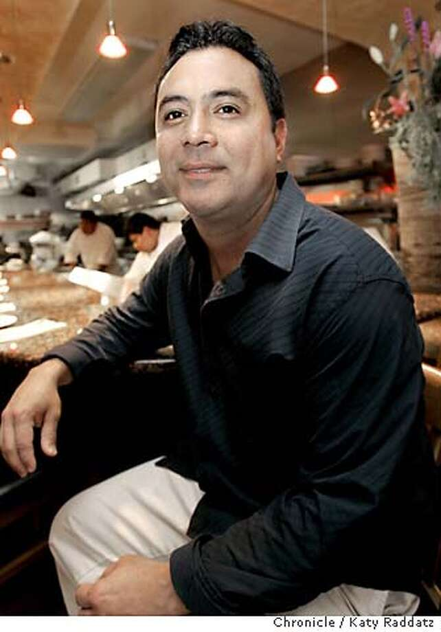 COOKSNIGHTOUT05_rad.jpg Luis Olvera, a chef at Enrico's Restaurant in San Francisco, sits at the bar at Fresca on Fillmore St. in San Francisco, where he is shown. Katy Raddatz / The Chronicle MANDATORY CREDIT FOR PHOTOG AND SF CHRONICLE/ -MAGS OUT Datebook#Datebook#SundayDateBook#12-05-2004#ALL#Advance##0422484598 Photo: Katy Raddatz