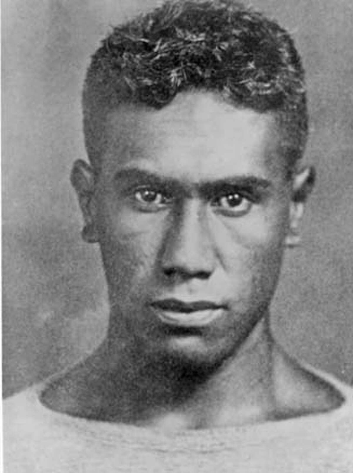 Mugshot of Joseph Kahahawai Jr. after his arrest in the alleged rape of Thalia Massie.
