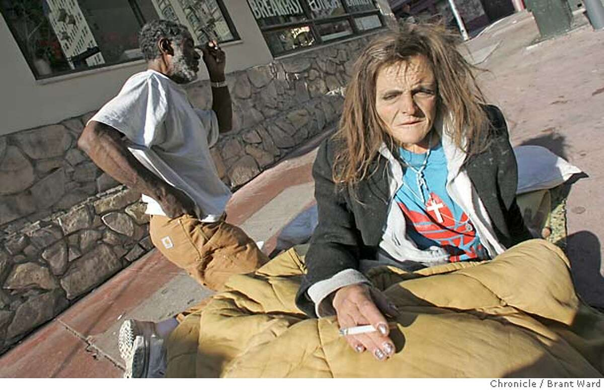 Having been kicked out of their two hotels, Jill and Ricky find themselves homeless on Jones Street again...their outreach workers have not made contact with them in weeks! Brant Ward 12/2/04
