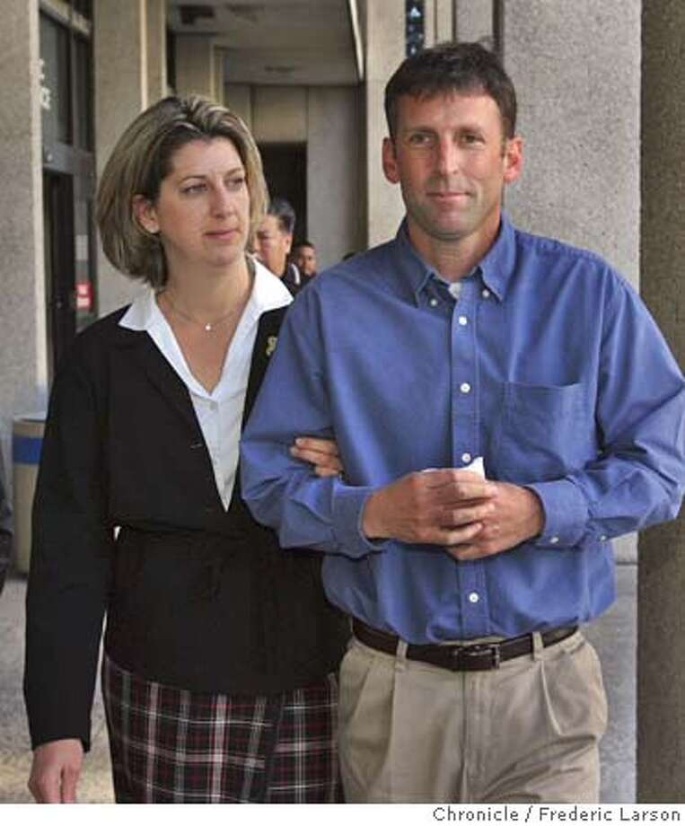 "SCOTT204.jpg Joe and Janey Peterson leave the San Mateo Superior Courthouse in Redwood City, Calif., after Joe (Scott Peterson Brother) took the stand in the sentencing phase of of Scott Peterson. For two days, Scott Peterson's family members and friends -- past and present -- have taken the stand in hopes of saving his life. They've talked about his gentle manner, his generous spirit and his kindness toward others. On Thursday, his sister-in-law tearfully recalled how he played with her children on family holidays. His older brother remembered teaching him how to ride a bike. And his best friend from junior high said they spent ""countless hours on the golf course."" Laci Peterson disappeared from her Modesto home on December 24th, 2002, when she was eight months pregnant. Her body and that of her unborn son washed up along the Richmond shoreline a few months later. Peterson faces the death penalty or life in prison without parole. 12/3/04 Redwood City CA Frederic Larson  The San Francisco Chronicle Metro#Metro#Chronicle#12/4/2004#ALL#5star##0422498035 Photo: Frederic Larson"