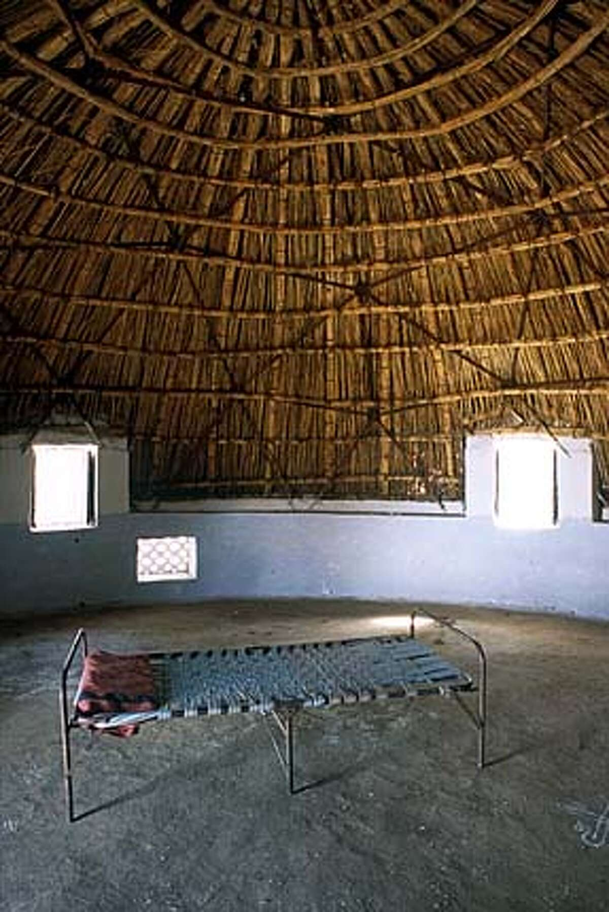 Old skills meet contemporary technology by Buckminster Fuller. The dome is constructed over a stone and plaster foundation and covered in thatch for homeless guests. Photo courtesy of the Aga Khan Award for Architecture