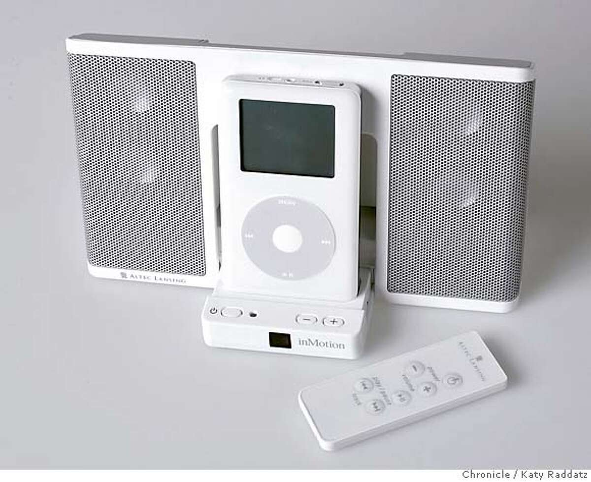 IPOD06_rad.jpg Story is about iPod accessories. SHOWN: Altec Lansing speakers. Katy Raddatz / The Chronicle