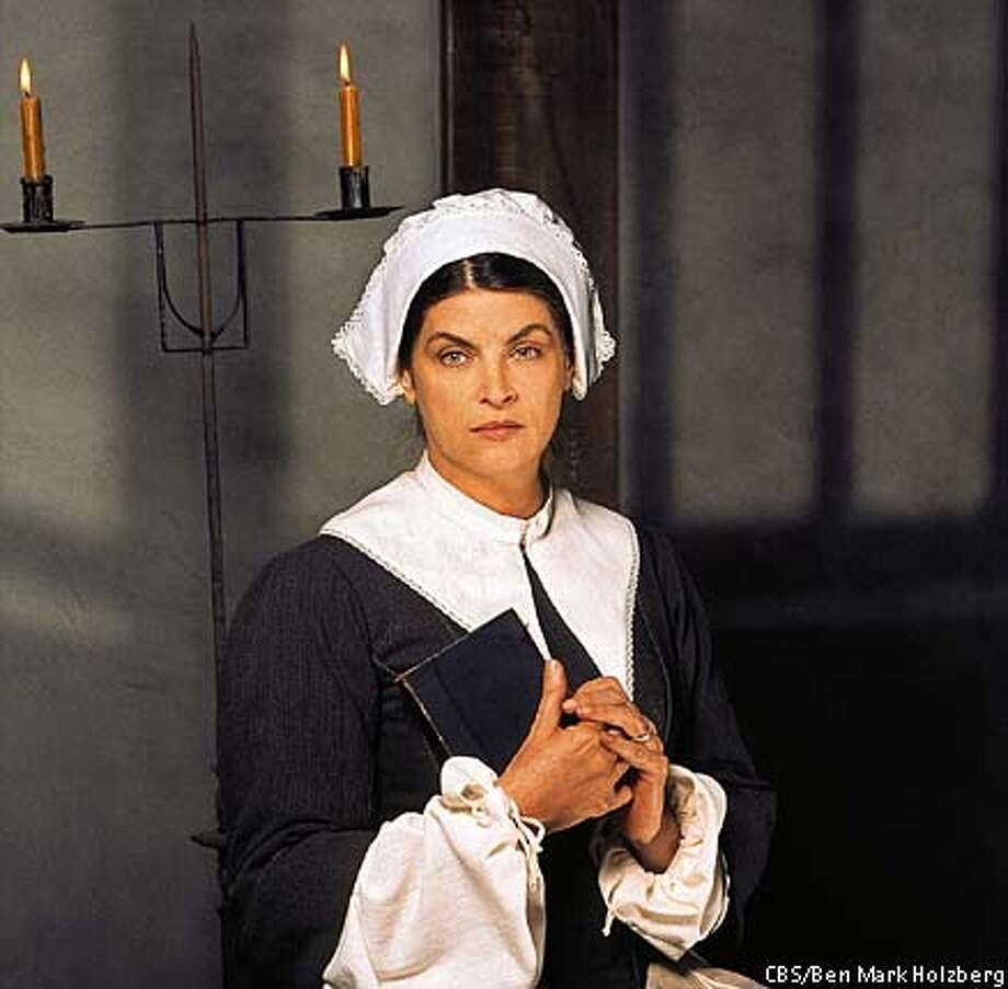 "THIS IS A HANDOUT IMAGE. PLEASE VERIFY RIGHTS. caption: Kirstie Alley stars in , a new four-hour mini-series to be broadcast Sunday, March 2 and Tuesday, March 4 (9:00-11:00 PM, ET/PT; each night) on the CBS Television Network. The drama explores how in 1692 the small Puritan community of Salem, Mass. succumbs to mass hysteria - enabling a small influential force to haphazardly accuse, jail, convict and even kill members of their own churchgoing community whom they suddenly deem to be witches. Alley stars as Ann Putnam, the wife of the influential Thomas Putnam, who, in the footsteps of her daughter, Annie, seemingly becomes ""afflicted"" with strange visions and fits that she publicly blames on the alleged witchcraft of some of her neighbors.  copyright: Photo: Ben Mark Holzberg/CBS  �2003 CBS Worldwide Inc. All Rights Reserved Photo: BEN MARK HOLZBERG"