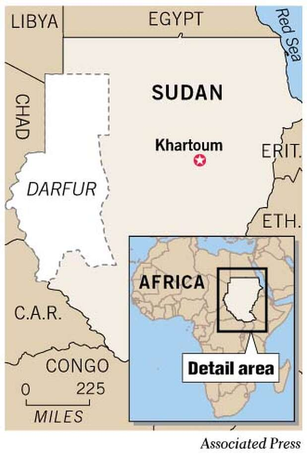 Darfur. Associated Press Graphic