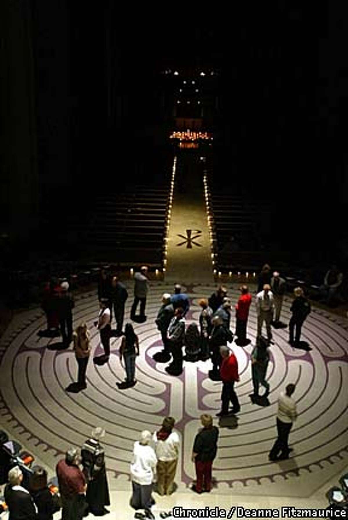 Lauren Artress founded Veriiditas, World-Wide Labyrinth Project, which hails labyrinth-walking as a path both to spiritual peace and heartfelt activism on behalf of humanity. On the second friday of every month, she hosts lectures and walks through the labyrinth at Grace Cathedral. CHRONICLE PHOTO BY DEANNE FITZMAURICE